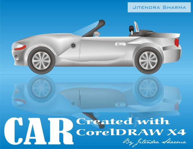 Car which have created in CorelDRAW.